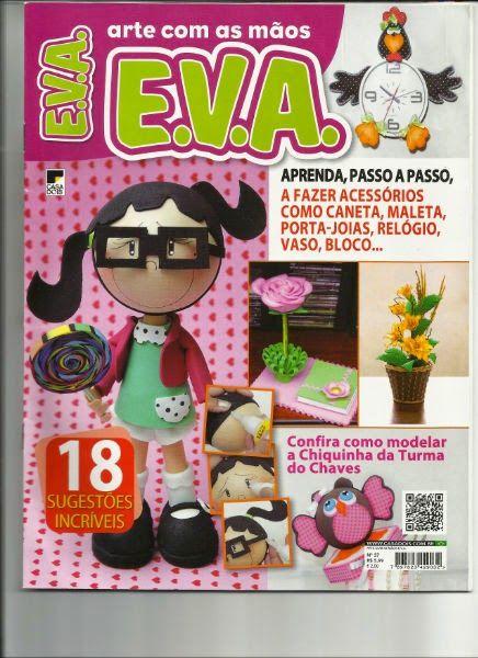 Arte con las manos E,V,A Revista manualidades en goma eva fofuchos