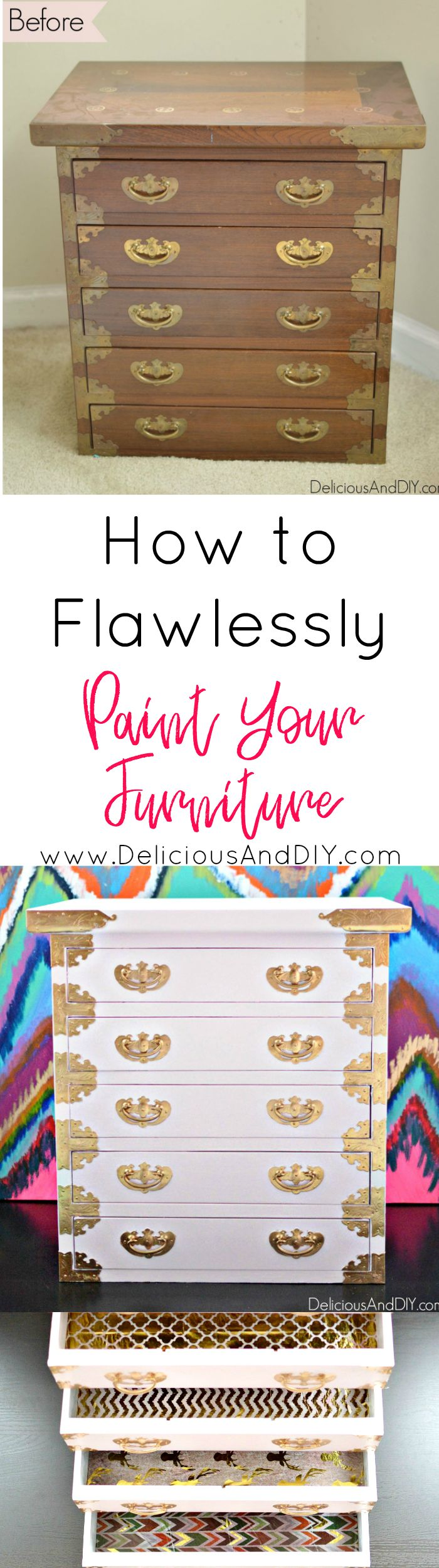 How to Flawlessly Paint your old Chest of Drawers and Transform it into a Stunni...