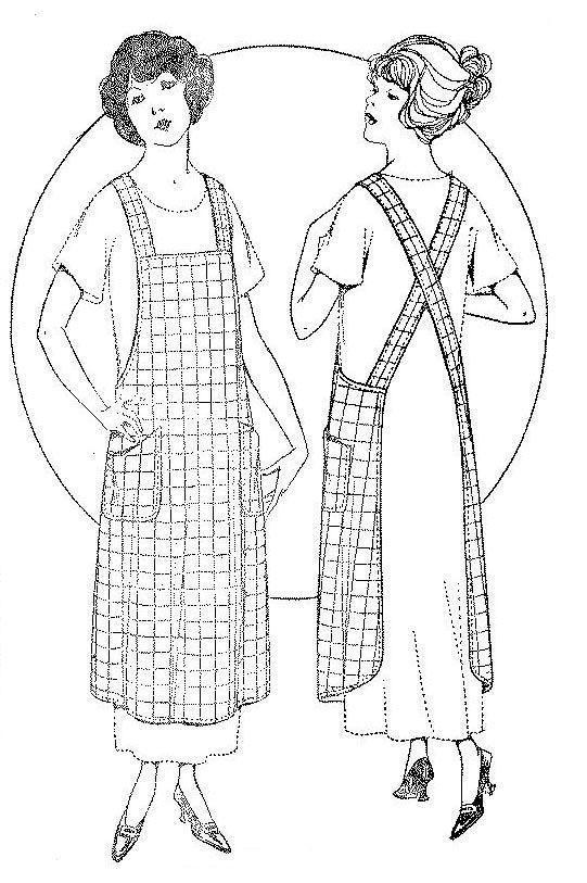 Pellon Copy 1921 Ladies' Misses' Vintage Apron Pattern Lrg Best selling pattern-sew easy!