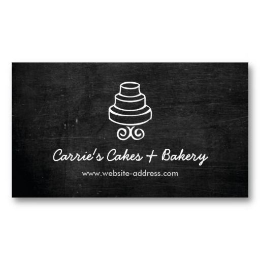 Cake Logo Business Card For Bakery