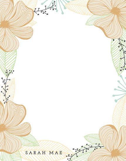 Floral Frame by The Lovely Letters