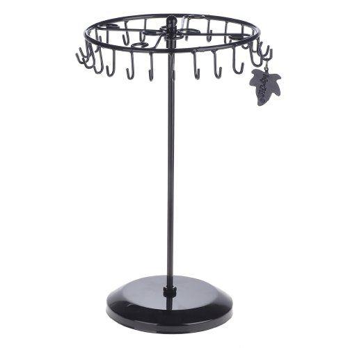 Black Rotating Necklace Holder Bracelet Stand / Jewelry Organizer / Jewelry Tree by MyGift Zoohu,http://www.amazon.com/dp/B00E9ZMZHI/ref=cm_sw_r_pi_dp_jt32sb04N63R2E45