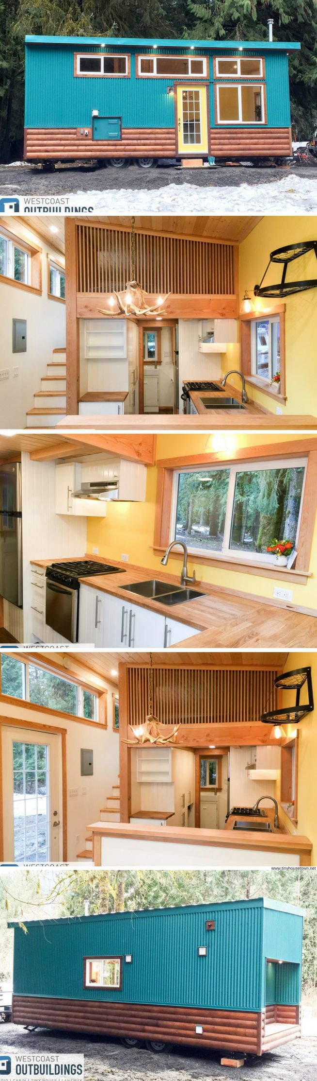 The Skookum: a 28' x 10' tiny house and park model home from West Coast Outbuildings