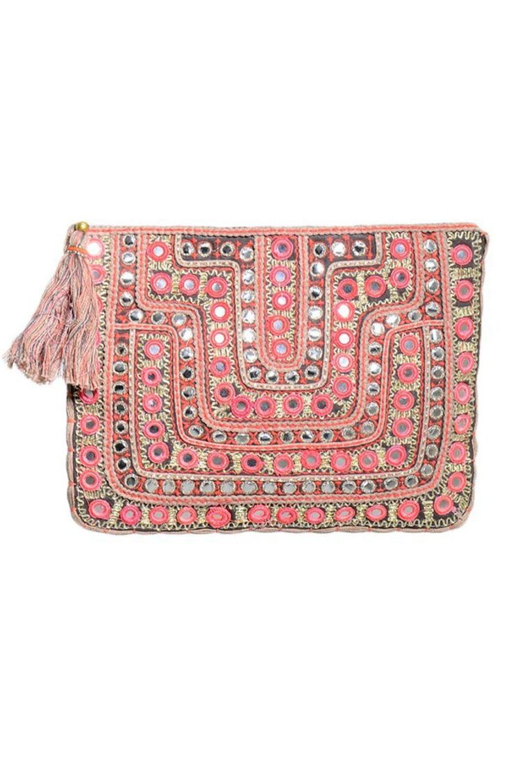 Not indian, but would go great with some mirror work clothes. Moroccan Mirrored Clutch - main
