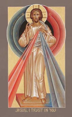Divine Mercy. Somehow, the Icon is one of my favorite versions of the Image.