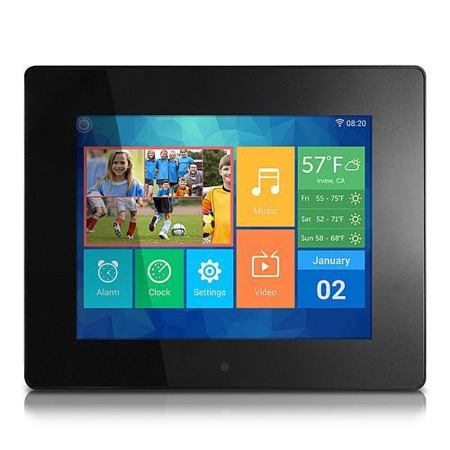 "Aluratek 8"" Digital Wi-Fi Touchscreen Photo Frame"