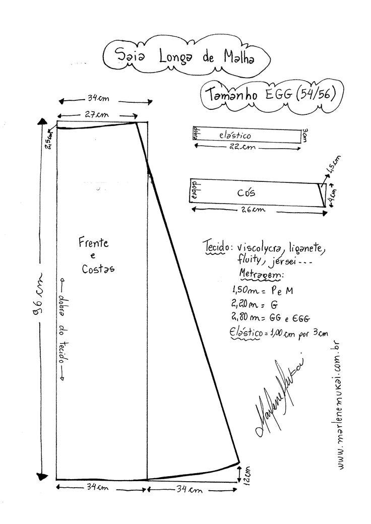 Molde de Saia de Malha tamanho EGG (54/56).