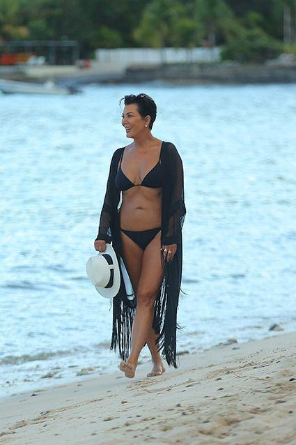 Kris Jenner, 59, Shows Off Bikini Bod, Shoots Down Tummy Tuck Rumors
