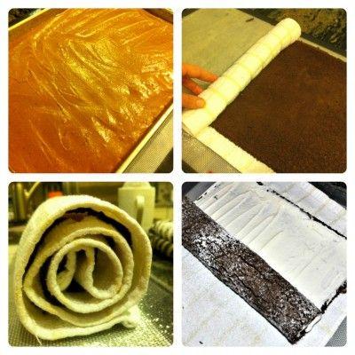 Yule Log Cake Steps