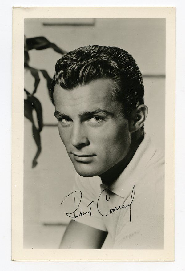 ROBERT CONRAD AUTOGRAPH PRE WILD WEST HAWIAN EYE POSTCARD PHOTOGRAPH 1959 in Entertainment Memorabilia, Autographs-Reprints, Television | eBay