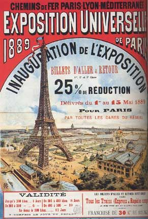 Exposition Universelle, Paris, 1889 poster