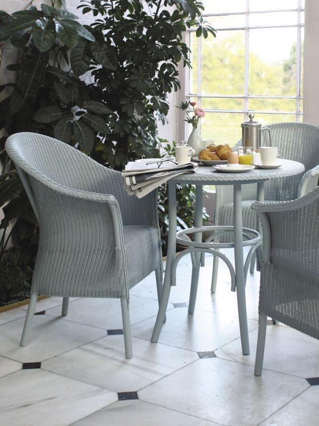 Conservatory furniture, Lloyd loom Belvoir chair from-Garden House Design. #Conservatory #Design #Furniture #Breakfast