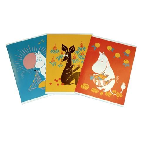 Moomin notebook 3-pack