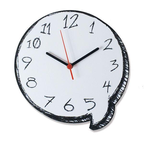 Relógio de Parede Balão de Gibi - Casa Geek - A30 x L26 x P3 - R$ 52,90