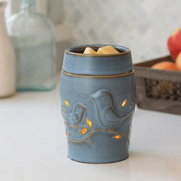 Blue Bird Candle Warmer Electric or Plug In