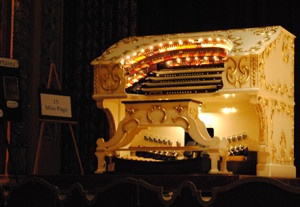 Miss Page, the Grande Page Pipe Organ, provided every sound effect and all the music to accompany the silent films at the Embassy Theater