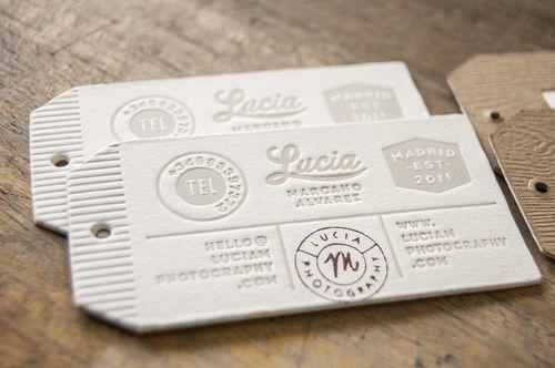 Carte de visite format étiquette - Letterpress business cards