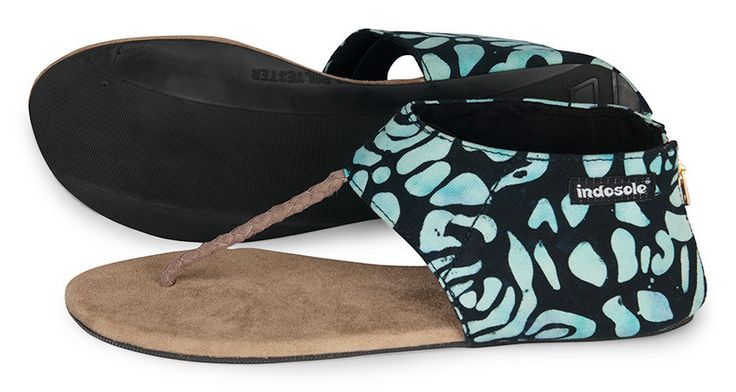 IKHANNA - NAVY FLORAL $50 A nomad's lifestyle is all about versatility. While transitioning from beach mode to city mode, Indosole has you covered. The Ikhanna offers our ladies the support of an urban walking shoe mixed with fashionable flair. Available in 4 hand-dyed Batiks, ikat, or black canvas.