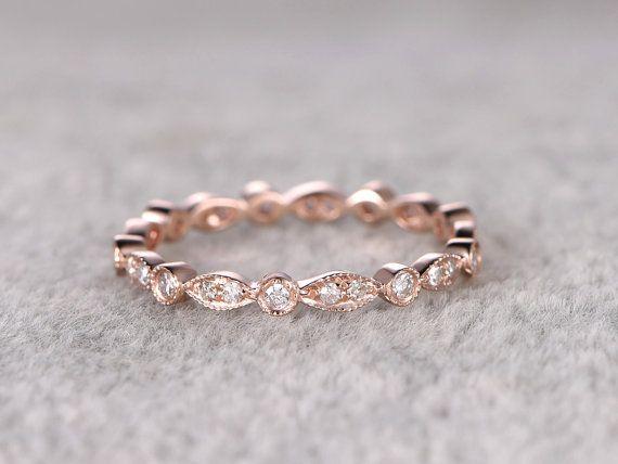 Natürliche volle Ewigkeit Hochzeit Diamantring solide von popRing
