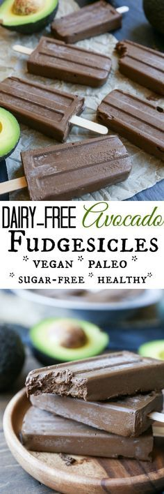 Dairy-Free Fudgesicles made with avocado, cacao powder, pure maple syrup, and coconut milk for a vegan and paleo dessert! easy healthy desssert recipes