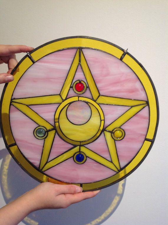 Sailor Moon broche inspiré la pièce de verre