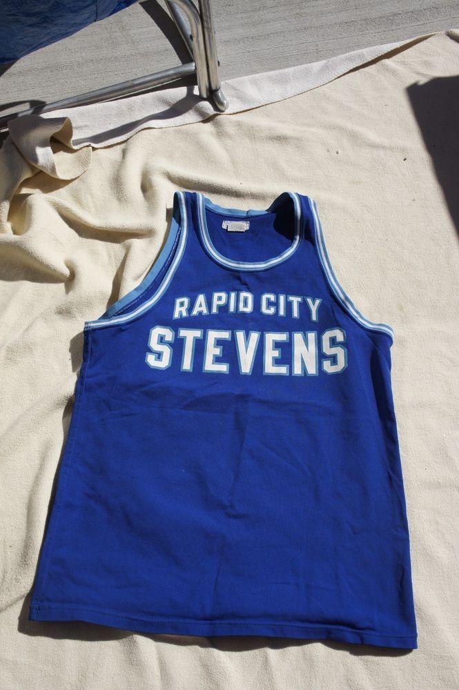 Vintage Rapid City Stevens Athletic Jersey T799 Blue Made in USA High School #DakotaSports #Jerseys