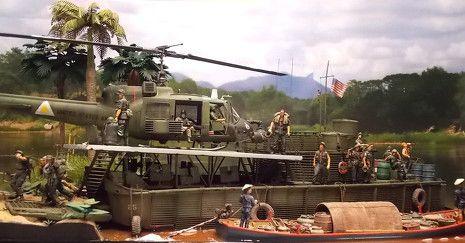 Brown Water Ships in Vietnam | Vietnam War Brown Water Navy 1/35 Scale Model Diorama