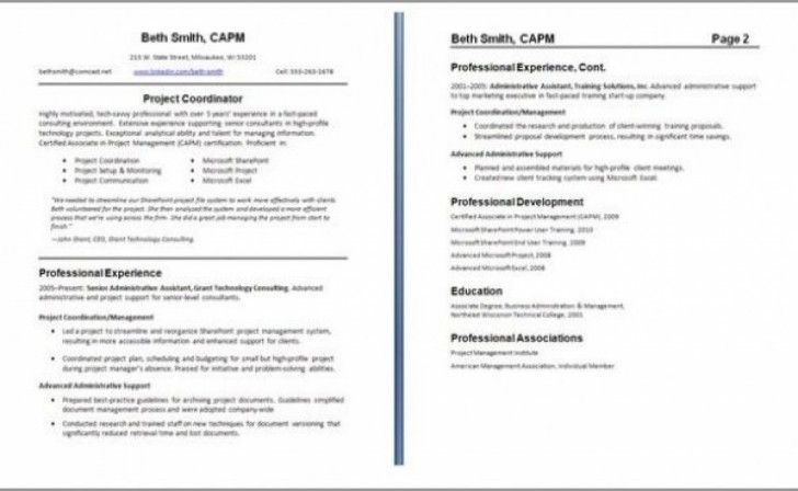 Professional 2 Page Resume Examples Resume Examples