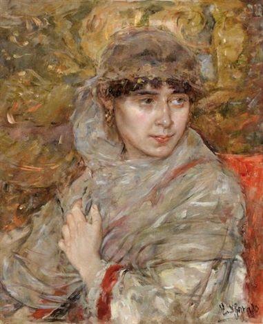 Femme au voile by Eduardo León Garrido