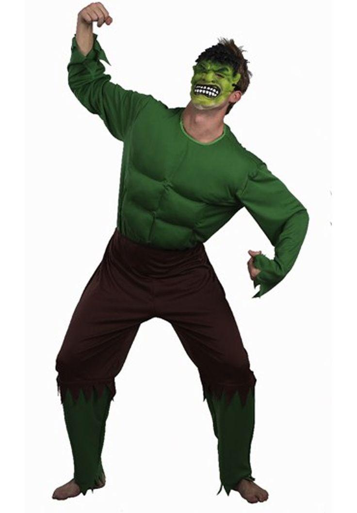 Hulk Green Monster Costume, Superhero Fancy Dress - Superhero Costumes at Escapade