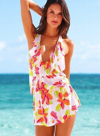 Victoria's Secret Floral Print Cover Up S #VictoriasSecret
