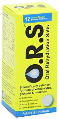 Oral Rehydration Salts Lemon Flavour Soluble Tablets - Tube of 12 Tablets