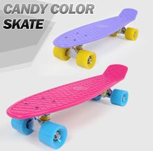 "New 22"" Skateboard Pastel Skate Board Scooter Style Colorful Decks Retro Cruiser Complete Skateboard Bearing ABEC7 Longboard //Price: $US $36.90 & FREE Shipping //     #tshirtdesign"