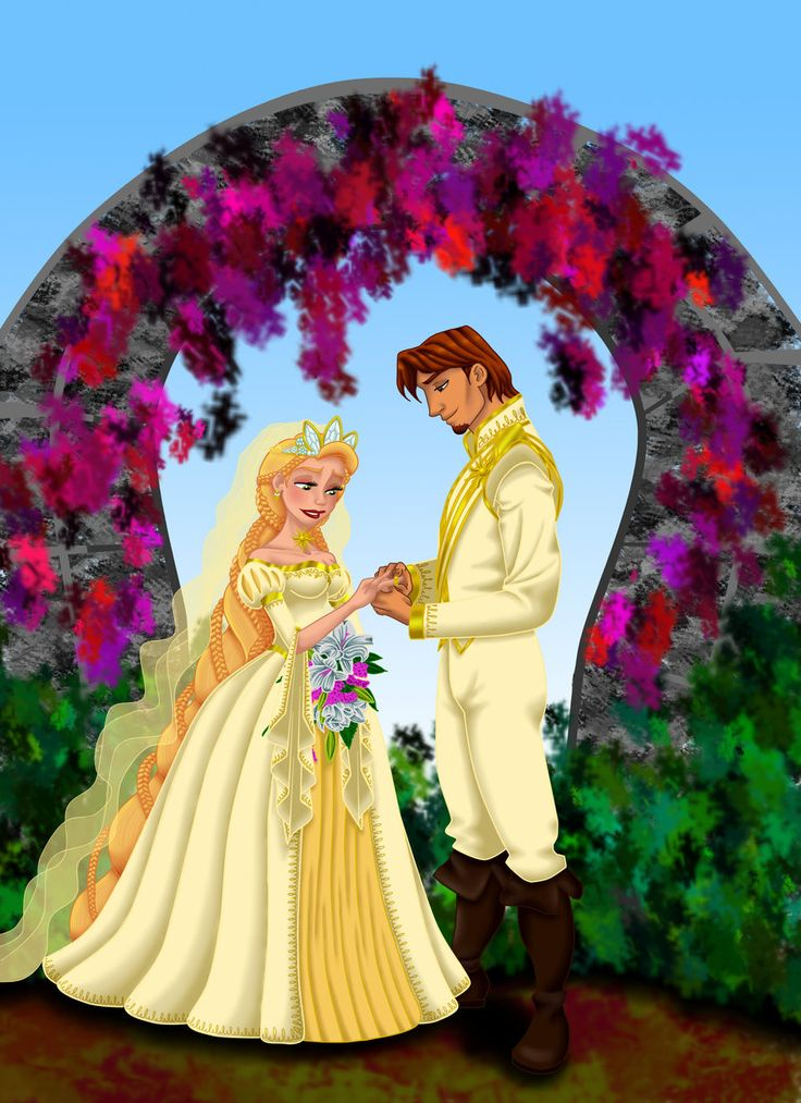 Tangled Ever After I by ~MissMikopete on deviantART (Makes me wish she had been able to keep her hair!!!)