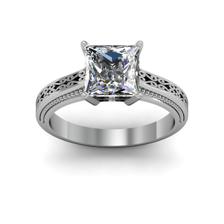 2 70ct natural diamond round cut 3mm vintage design shank w side milgrain i