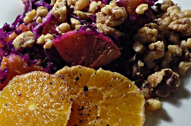 Red cabbage, orange and salted walnuts | Flickr - Photo Sharing!