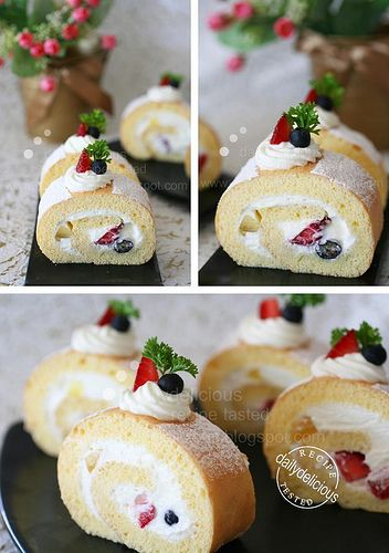 Simple roll cake #roll #cake