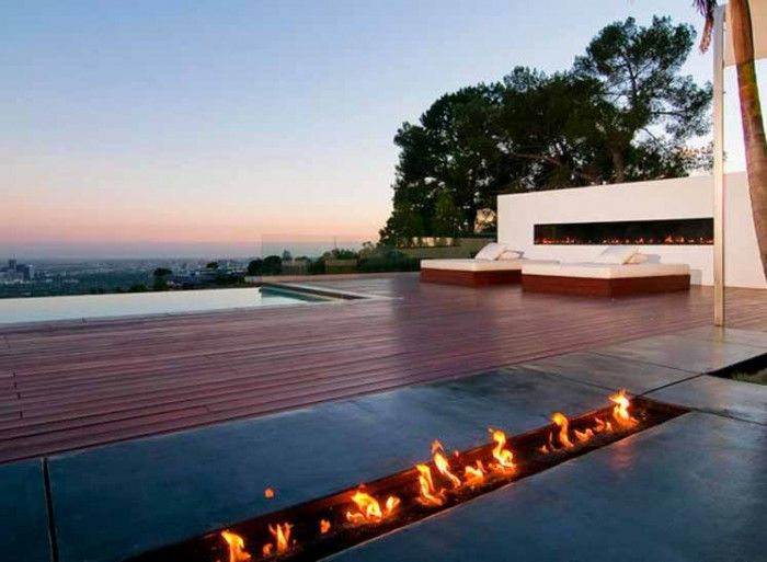 Home Nightingale Outdoor Entertaining Fireplace Hotspot #sportsgirlLuxury House, Marc Canadel, Home Design, Los Angels, Luxury Home, Outdoor Spaces, Modern House, Infinity Pools, Fire Pit