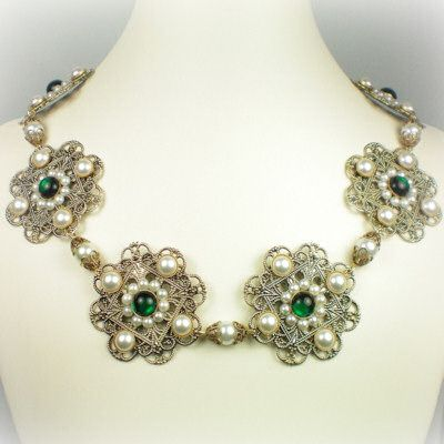 Gemstone | this gorgeous and ornate necklace is an accurate replica of the one ...