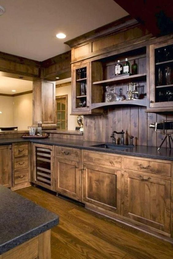 35 Rustic Kitchen Ideas 2020 For People With A Tight Budget Kitchen Design Farmhouse Kitchen Cabinets Kitchen Style