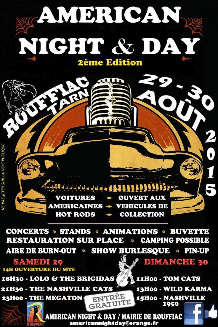 festival vintage, rockabilly American night and day Rouffiac (Tarn)