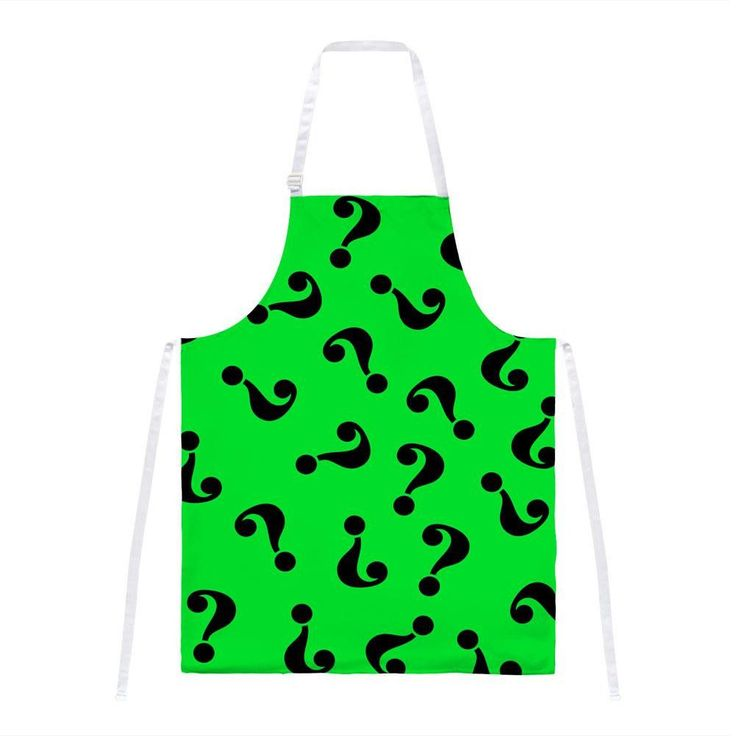 Halloween Riddle Me This Costume All Over Apron