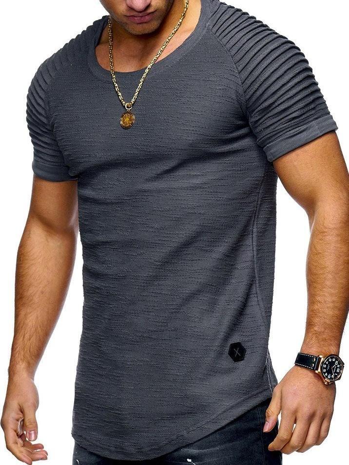 e08bb73bf353b Best Seller Solid Color Short Sleeve Men s T-shirt – hebedress.com