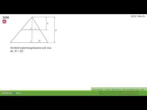 Matematik 5000 Ma 2b   Kapitel 3   Några bevis med likformighet   3256