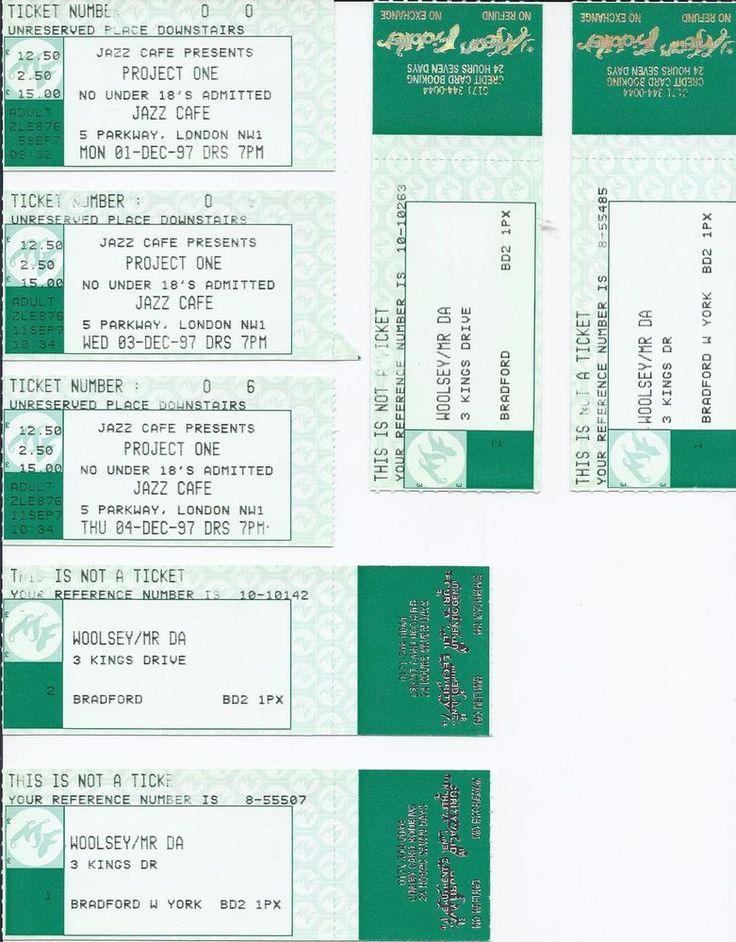 Robert Fripp Bill Bruford Trey Gunn Tony Levin PROJEkCT ONE Crimso used tickets