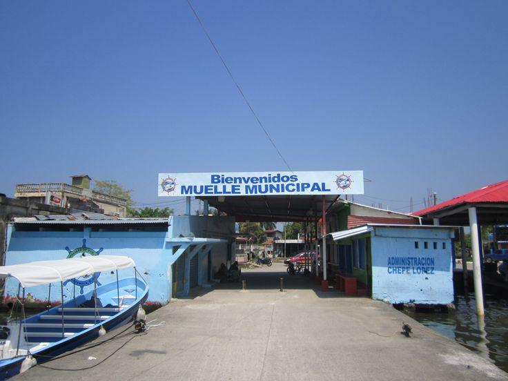 Entrance to Guatemalan Customs in Puerto Barrios, Guatemala....