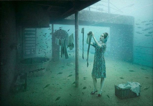 Her clothes may take a while to dry. [Photo by Andreas Franke]