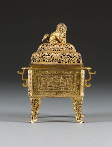KAISERLICHER WEIHRAUCHBRENNER MIT BUDDHISTISCHEM LÖWEN#porzellan #skulpturen #keramik #bronze