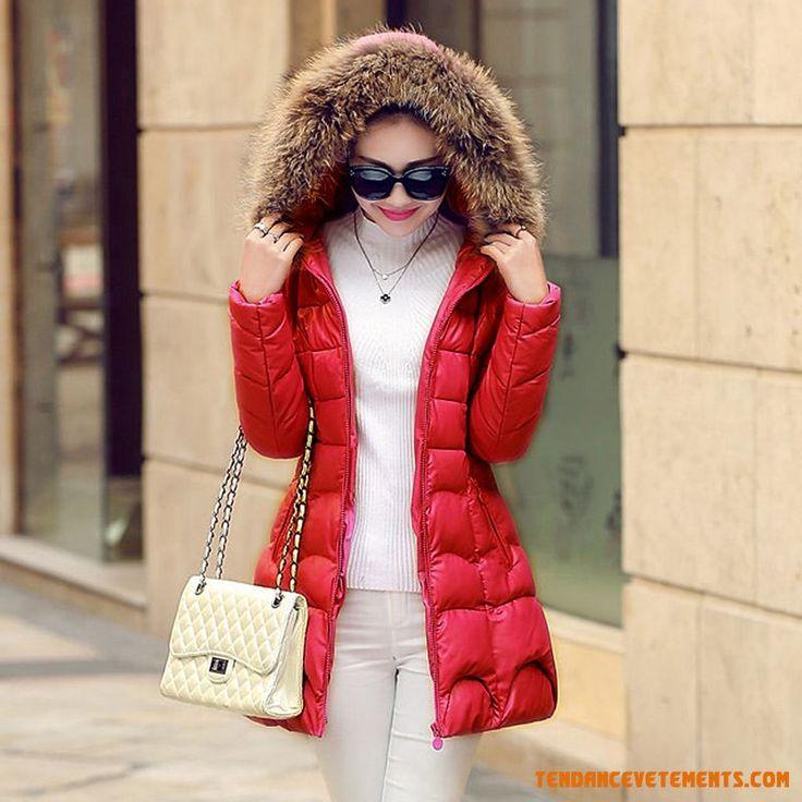 Mince Hiver Vêtements Coton Nouveau Vêtements De Coton Femme Cuir La Longue Section Thicker Cyan Blanc