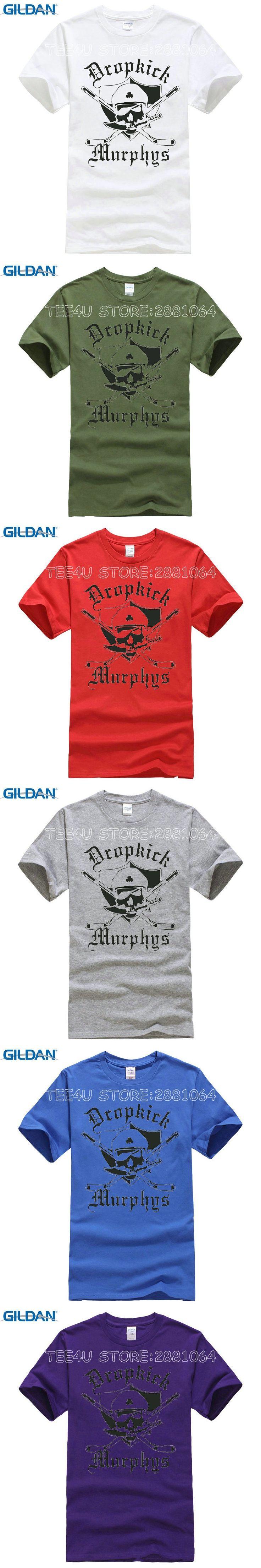 Tee4U Design Your Own Shirt Online Men'S Tall O-Neck Dropkick Murphys Punk Rock Musica Short-Sleeve T Shirt